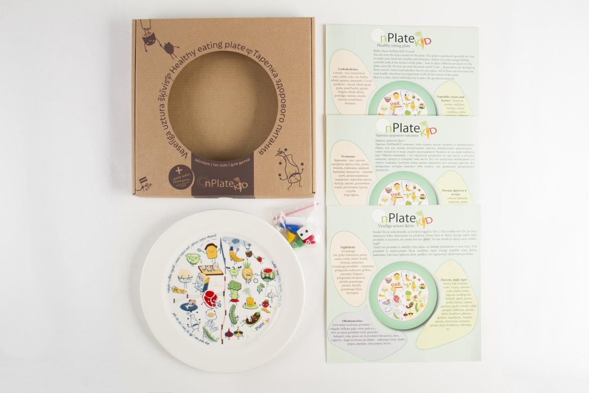 Veselīga uztura šķīvis OnPlate Bērniem.