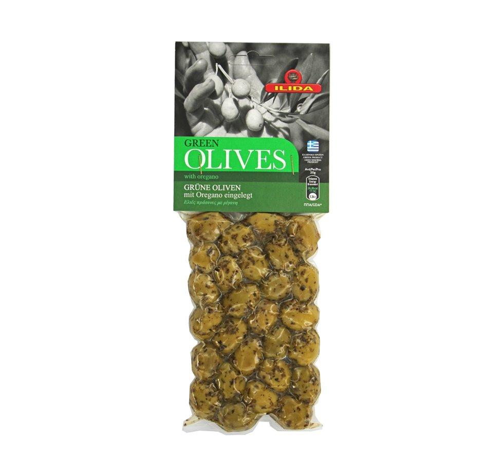 Zaļās olīvas ar oregano 150g