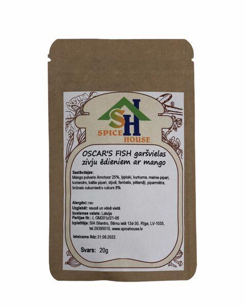 Oscars Fish garšvielas zivju ēdieniem ar mango