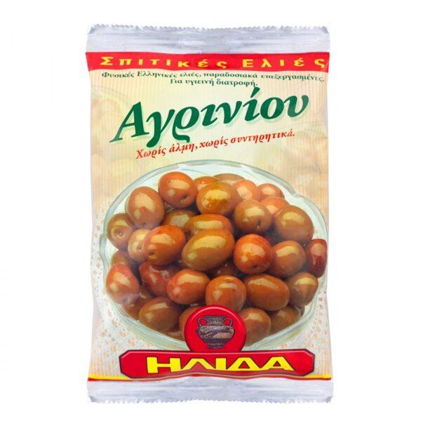 Gaišās Agriniu olīvas, ar kauliņiem 250g